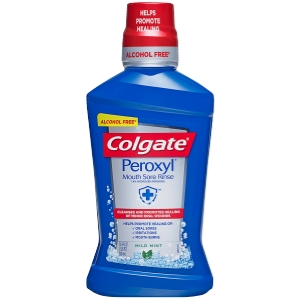 Colgate® Peroxyl® Mouth Sore Rinse, Mild Mint, 16.9 Fluid Ounce