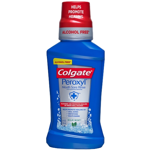 Colgate® Peroxyl® Mouth Sore Rinse, Mild Mint, 8.45 Fluid Ounce