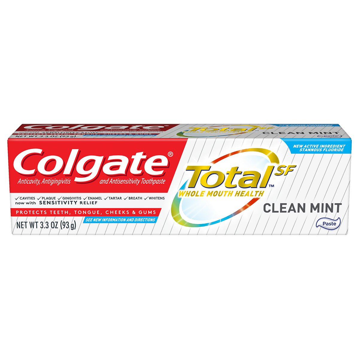Colgate Totalˢᶠ Clean Mint Toothpaste, 3.3 oz