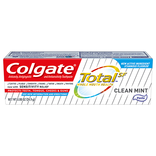 Colgate Totalˢᶠ Clean Mint Toothpaste, .88 oz
